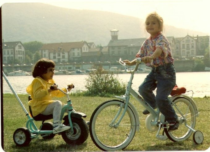 My cousin (that I share with Dena) and me whe we were little.