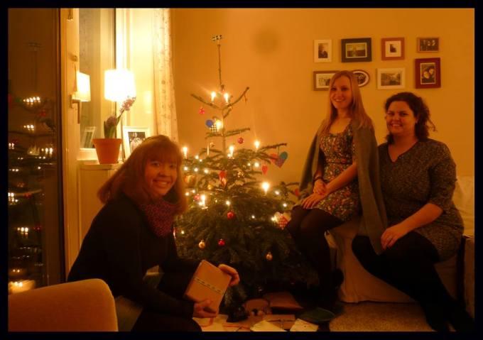 weihnachtenamblauentisch