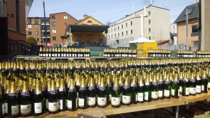 Champagne has an important role on Valborg.