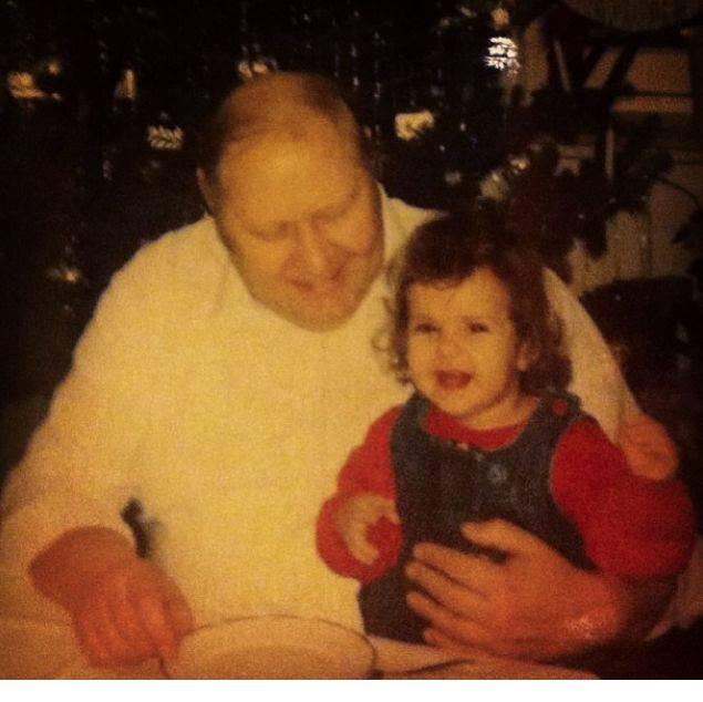 Grandpa and me, Christmas, probably 1989.