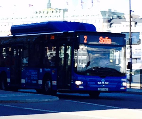 Since years, bus line no 2 has been going to Sofia, a  part of Södermalm in Stockholm. But of course, tomorrow this is a particularily funny coincidence.
