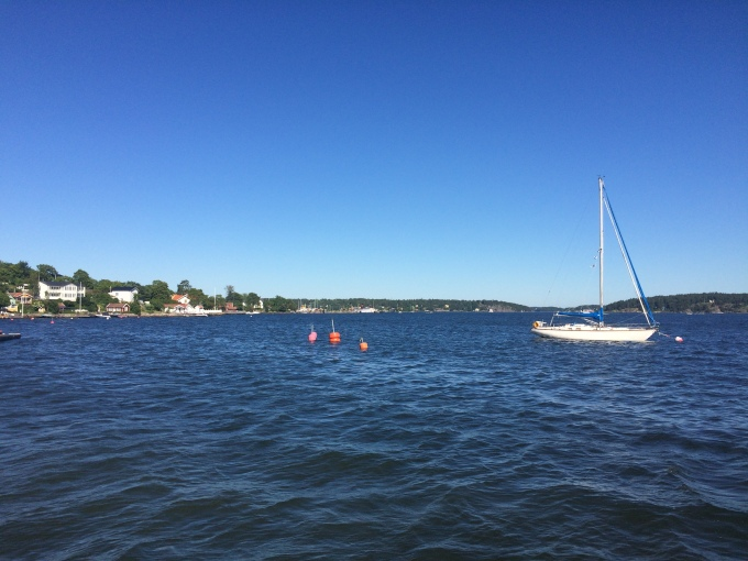 Before, we made a stop in Vaxholm