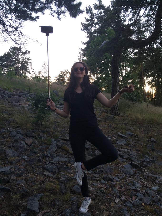 Bianca has bought a selfie stick