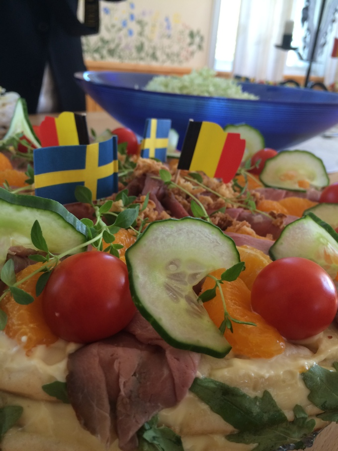 "Typical Swedish ""Sandwichcake""at the reception"