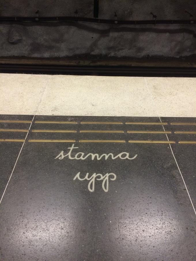 In the metro: