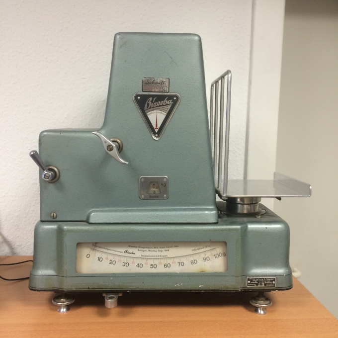 Yes, our letter scales are antique and thus quite a sight.