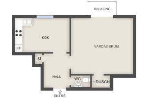 Swedish apartment plan