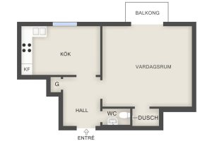 Swedish apartment plan