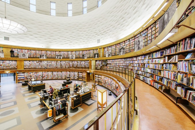 The impressive Stockholm Central Library (Photo Simon Paulin/imagebank sweden)