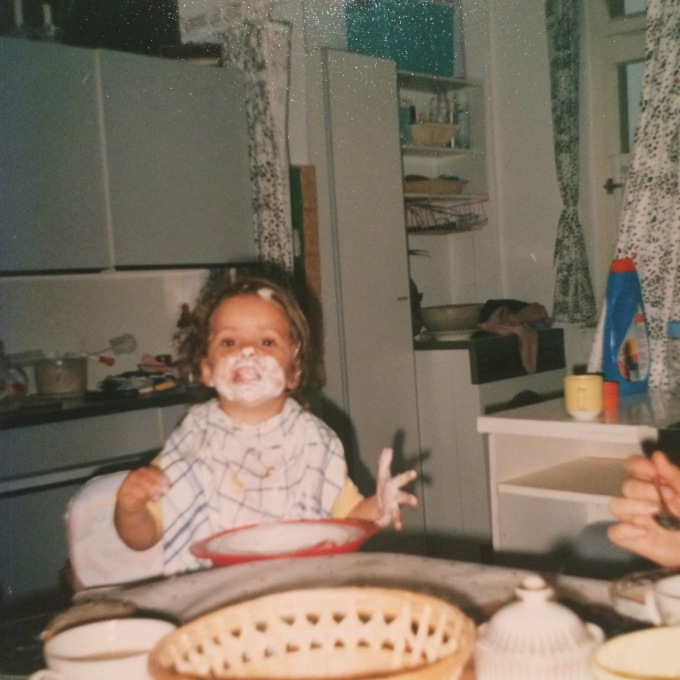 Me as the Happy Yoghurt Baby